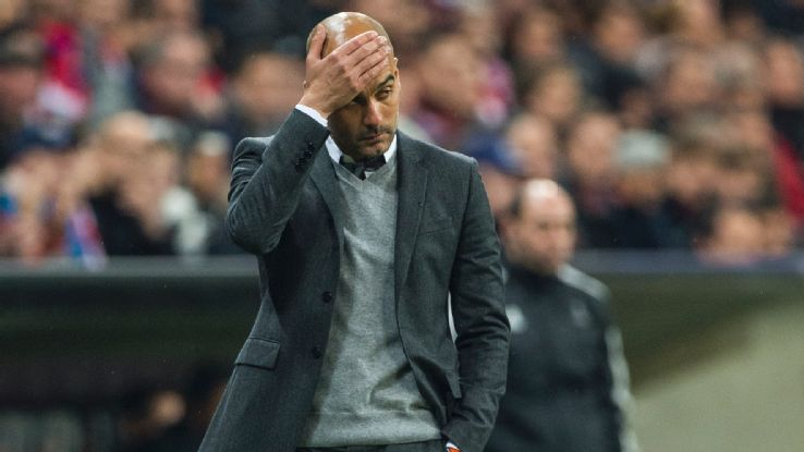 Pep disappointed
